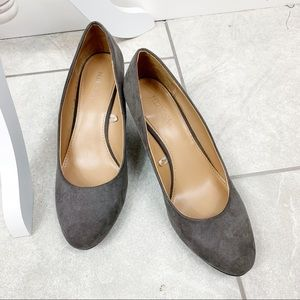Merona Gray Suede Wedge Heels